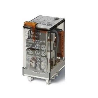 FINDER 553480120054 RELE'A 4 SCAMBI 7A 12VAC CON TAST.