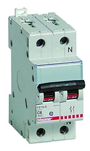 BTicino F810N/32 Interruttore Automatico, 2 Moduli, 1P+N 4.5 kA, 32 A
