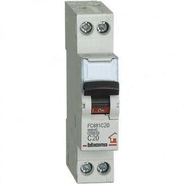 BTICINO FC881C20 interruttore magnetotermico c20 1p+n 1m 4500a