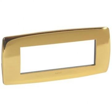 placca vela tonda oro lucida 6 posti legrand 682573