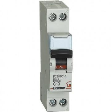 BTicino FC881C10 BTDIN Interruttore Magnetotermico 1P+N Curva C, In = 10 A