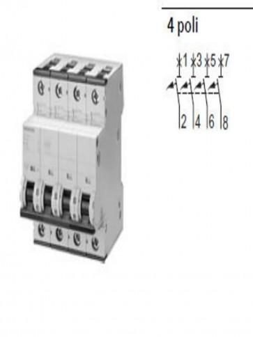 Siemens 5sl6 – Automatico Magnetotermico 400 V 6 KA 4 poli C 40 A 5SL64407BB