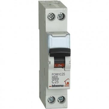 BTicino FC881C25 BTDIN, Interruttore Magnetotermico 1P+N Curva C, In = 25 A