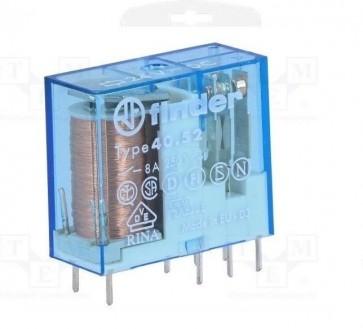 Minirelè per circuito stampato 2 scambi 8A 24V Finder 405290240000