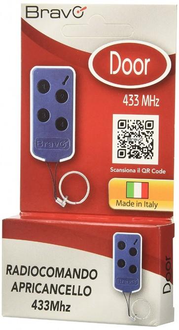 Radiocomando Bravo Autoapprendente Door Codice Fisso Frequenza 433 Mhz