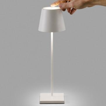 LAMPADA DA TAVOLO BATTERIA LED POLDINA AI LATI