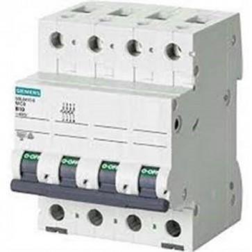 Siemens 5sl6 – Automatico Magnetotermico 400 V 6 KA 4 poli C 10 A 5SL64107BB