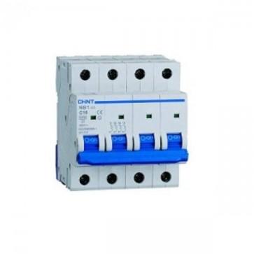 Chint 51412 Interruttore quadripolare 400 vac 4 moduli 50a curva c 6ka interruttore magnetotermico da guida din quadro