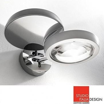 Studio Italia Design Nautilus Applique LED Lampada da Parete Cromo