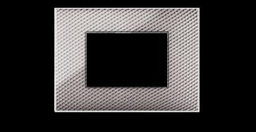 PLACCA AVE SERIE YOUNG 3 MODULI COLORE CARBONE CHIARO COD. 44PJ03CBC/3D