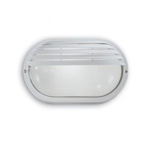 LAMPADA DA PARETE RELCO CON PALPEBRA E27 IP44 VETRO SABBIATO 160S/SIL