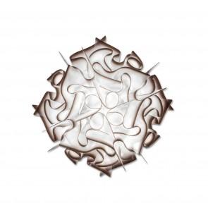 Lampada da soffitto SLAMP VELI bianco/marrone realizzato a mano, Made in Italy