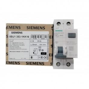 SIEMENS 5SU13531KK16 INTERRUTTORE MAGNETOTERMICO DIFFERENZIALE 1P+N 16A