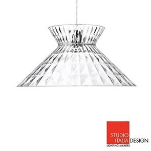 Studio Italia Design Sugegasa LED Lampada a Sospensione Soffitto Cristallo