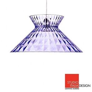 Studio Italia Design Sugegasa LED Lampada a Sospensione Soffitto Azzurro Trasparente