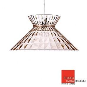 Studio Italia Design Sugegasa LED Lampada a Sospensione Soffitto Rosè Trasparente