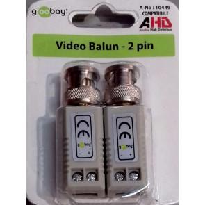 VIDEO BALUN TRASMETTITORI CAVO UTP 2 PIN cod.10449